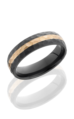 Lashbrook Zirconium Wedding band Z6D12 14KR Hammer product image