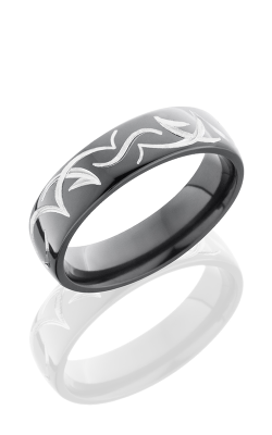Lashbrook Zirconium Wedding band Z6D-TRIB POLISH product image