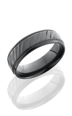 Lashbrook Zirconium Wedding band Z7B2UMILSTRIPES product image