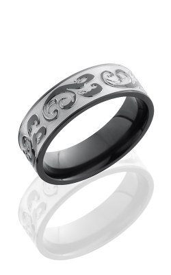 Lashbrook Zirconium Wedding Band Z7F-WHIRLY BEAD product image