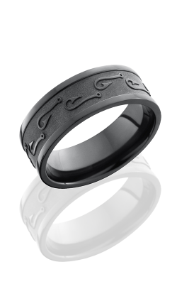 Lashbrook Zirconium Wedding band Z7FFISHHOOKS2 product image
