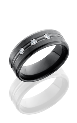 Lashbrook Zirconium Wedding band Z8BDDIA3X.05B POLISH-BEAD product image