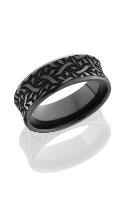 Lashbrook Zirconium Wedding Band Z8CB BLCVESCHER2 POLISH product image