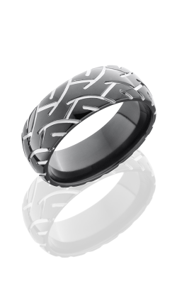 Lashbrook Zirconium Wedding Band Z8D-CYCLE2 POLISH product image