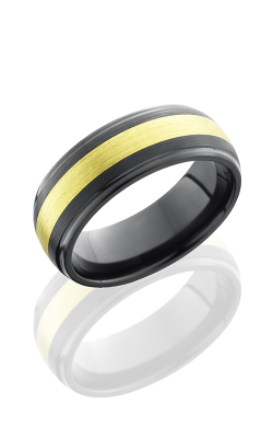 Lashbrook Zirconium Wedding Band Z8DGE13-18KG SATIN-POLISH product image