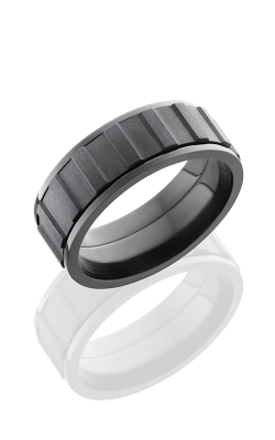 Lashbrook Zirconium Wedding band Z8F-GEARSPINNER BEAD-POLISH product image