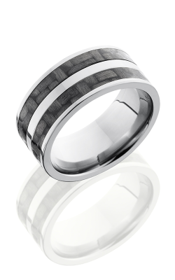 Lashbrook Carbon Fiber Wedding Band C10F23 CF POLISH product image