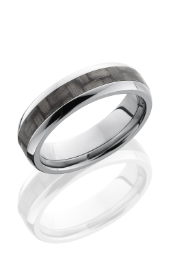 Lashbrook Carbon Fiber Wedding Band C6D13 CF POLISH product image