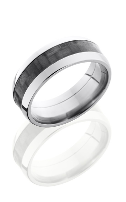 Lashbrook Carbon Fiber Wedding band C8D14 CF POLISH product image
