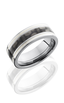 Lashbrook Carbon Fiber Wedding Band C8F1321 CFSS2UMIL POLISH product image