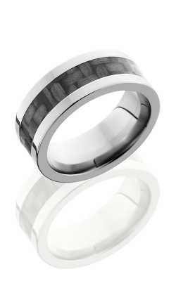 Lashbrook Carbon Fiber Wedding Band C8F14 CF POLISH product image
