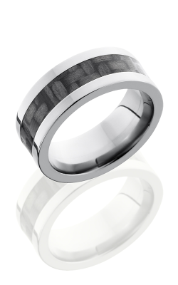Lashbrook Carbon Fiber Wedding Band C8F14 SILVERCF POLISH product image