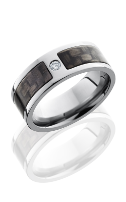 Lashbrook Carbon Fiber Wedding Band C8F15SEG CFDIA.07F POLISH product image