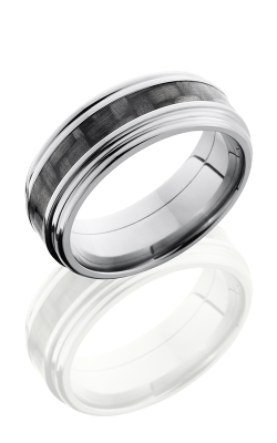 Lashbrook Carbon Fiber Wedding band C8REF13 CF POLISH product image