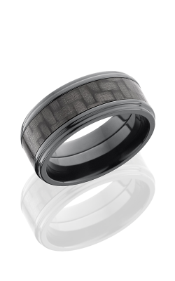 Lashbrook Carbon Fiber Wedding Band ZC9FGE15 CF POLISH product image