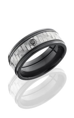 Lashbrook Carbon Fiber Wedding band ZC8FGEW2MIL14 SILVER product image