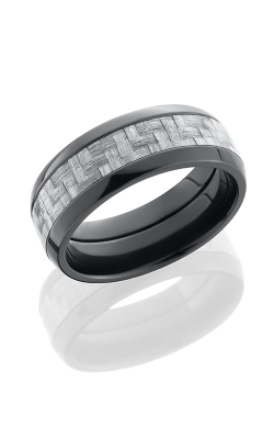 Lashbrook Carbon Fiber Wedding Band ZC8D14 SILVERCF POLISH product image