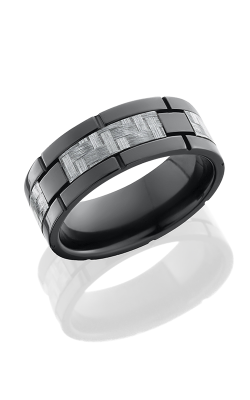 Lashbrook Carbon Fiber Wedding Band ZC8F4SEG SILVERCF POLISH product image