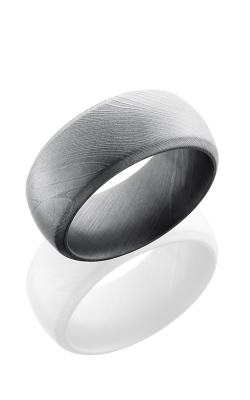 Lashbrook Damascus Steel Wedding Band D10DB BEADBLAST product image