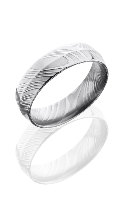 Lashbrook Damascus Steel Wedding band D6P POLISH product image