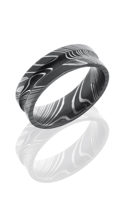 Lashbrook Damascus Steel Wedding band D7C ACID product image