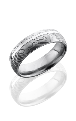 Lashbrook Damascus Steel Wedding Band D7D11OC-14KR POLISH product image