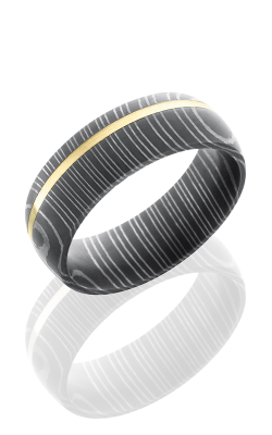 Lashbrook Damascus Steel Wedding band D7D11OC-14KY ACID product image