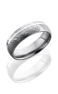 Lashbrook Damascus Steel Wedding band D7D11OC-SS POLISH product image