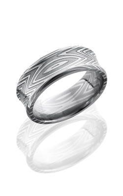 Lashbrook Damascus Steel Wedding Band D8CBZEBRA POLISH product image