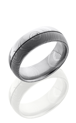 Lashbrook Damascus Steel Wedding band D8D1.5 ACID-POLISH product image