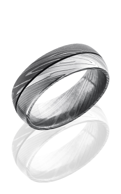 Lashbrook Damascus Steel Wedding Band D8D1.5 POLISH-ACID product image