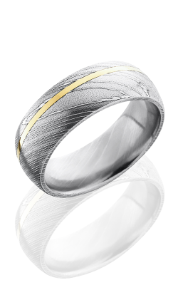 Lashbrook Damascus Steel Wedding band D8D11OC-14KY POLISH product image