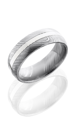 Lashbrook Damascus Steel Wedding band D8D12-14KW POLISH product image