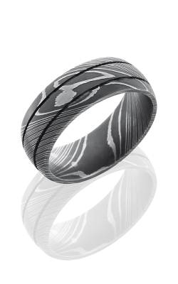 Lashbrook Damascus Steel Wedding band D8D2.5 ACID product image