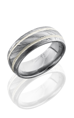 Lashbrook Damascus Steel Wedding Band D8D21-SS2MIL POLISH product image