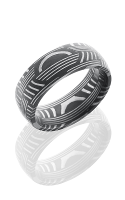 Lashbrook Damascus Steel Wedding band D8DBASKET ACID product image