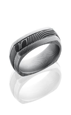 Lashbrook Damascus Steel Wedding band D8DSQ2.5FLATTWIST product image