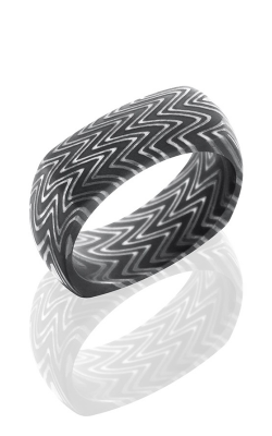 Lashbrook Damascus Steel Wedding band D8DSQZEBRA ACID product image