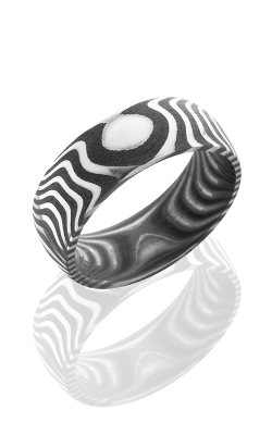 Lashbrook Damascus Steel Wedding band D8DTIGER ACID product image