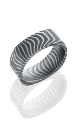 Lashbrook Damascus Steel Wedding band D8FSQTIGER ACID product image