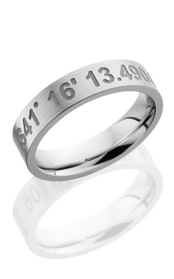 Lashbrook Cobalt Chrome Wedding band CC5FCOORDINATES SAND-SATIN product image