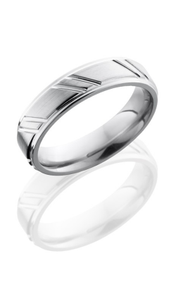 Lashbrook Cobalt Chrome Wedding band CC5FGESTRIPES SATIN-POLISH product image