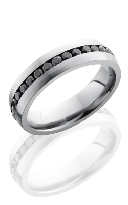 Lashbrook Cobalt Chrome Wedding band CC6DETERNITYBLKDIA.04 SATIN product image
