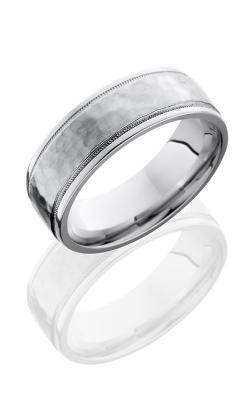 Lashbrook Cobalt Chrome Wedding band C7.5FGEW2UMIL HAMMER-POLISH product image