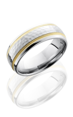 Lashbrook Cobalt Chrome Wedding band CC7D21W-14KYMIL HAMMER-POLISH product image