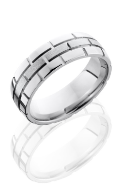 Lashbrook Cobalt Chrome Wedding band CC7DBRICK STONE-POLISH product image