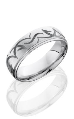 Lashbrook Cobalt Chrome Wedding band CC7DGETRIB SAND-SATIN-POLISH product image