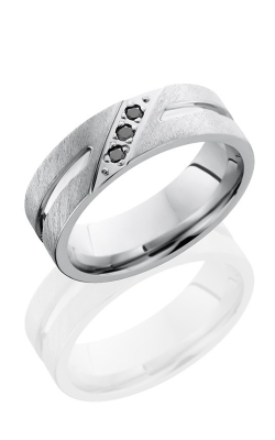 Lashbrook Cobalt Chrome Wedding band CC7F11.5BLKDIA3X.04ANG product image