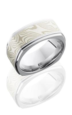 Lashbrook Cobalt Chrome Wedding band CC8.5FGESQ15-MSSPD BEAD-POLISH product image