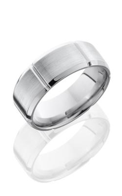Lashbrook Cobalt Chrome Wedding band CC8B6SEG SATIN-POLISH product image